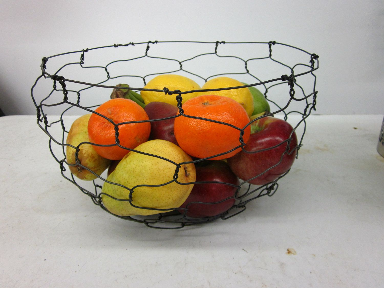 Round Twisted Wire Basket by Charest studios | Wire ...