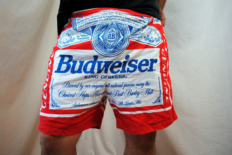 Vintage Budweiser Swim Trunks Swim Trunks Swimming And
