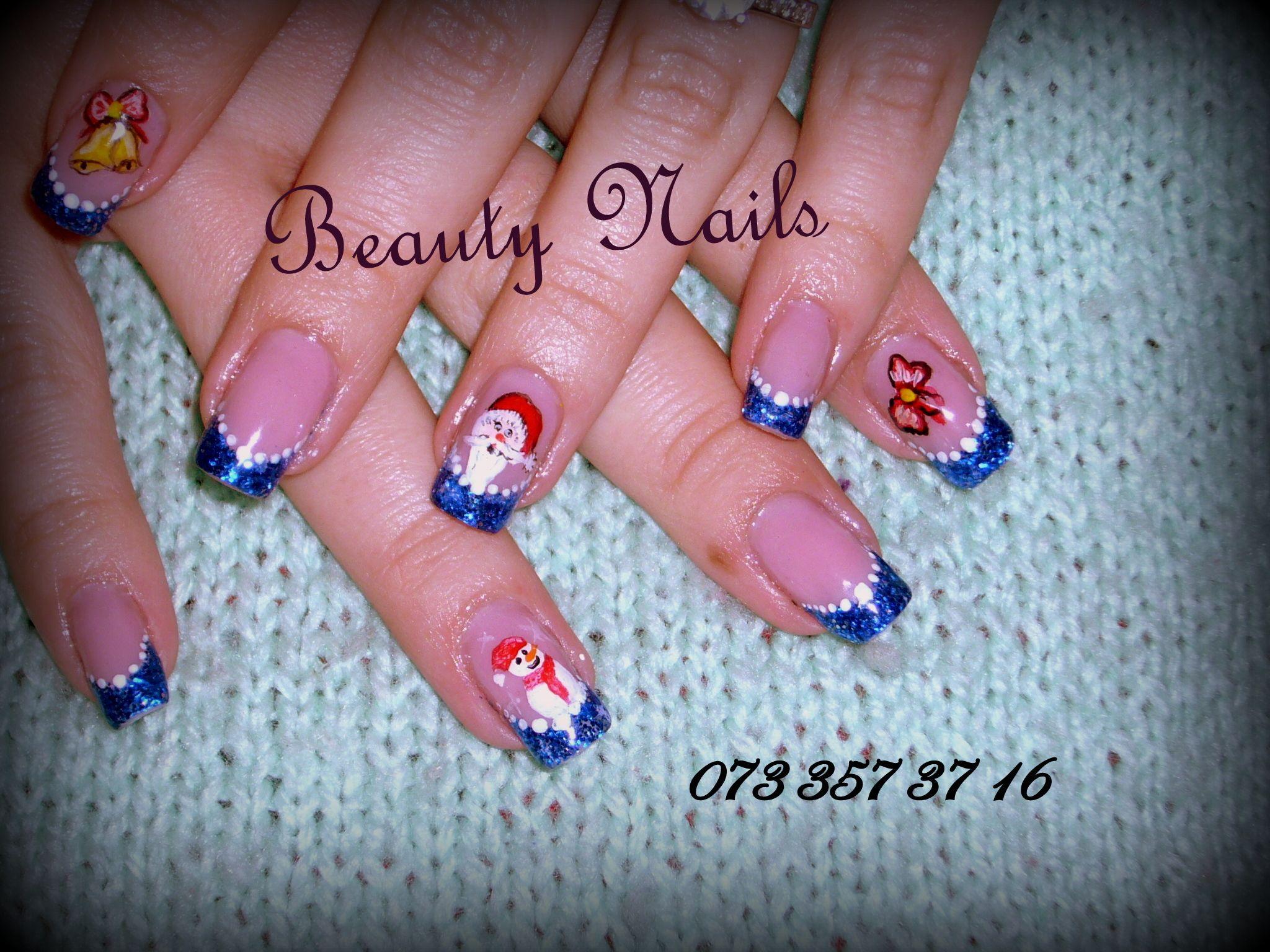 Unghii Cu Gel Model De Craciun Nails Nail Art Painting