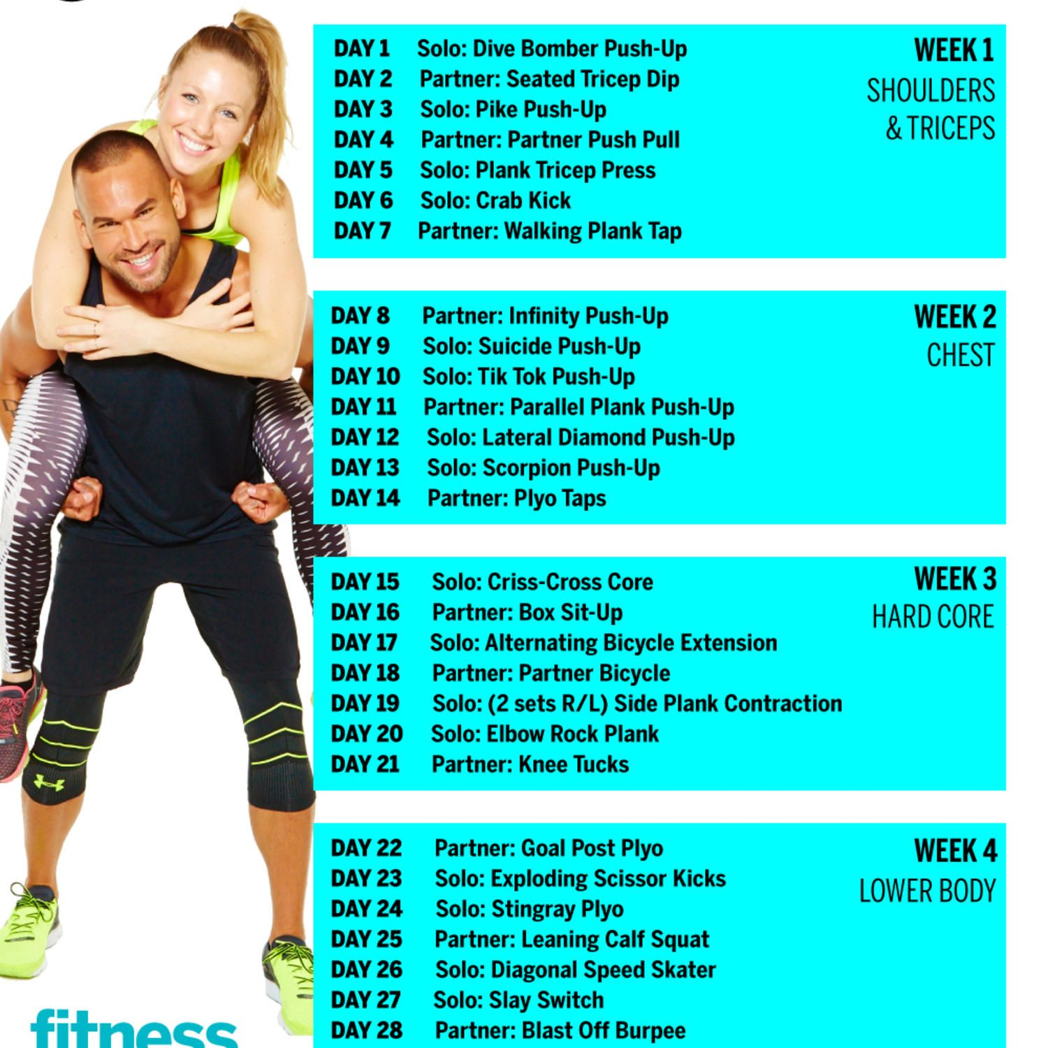 Meredith Partner Workout 30 Day Workout Challenge Couples Workout Routine