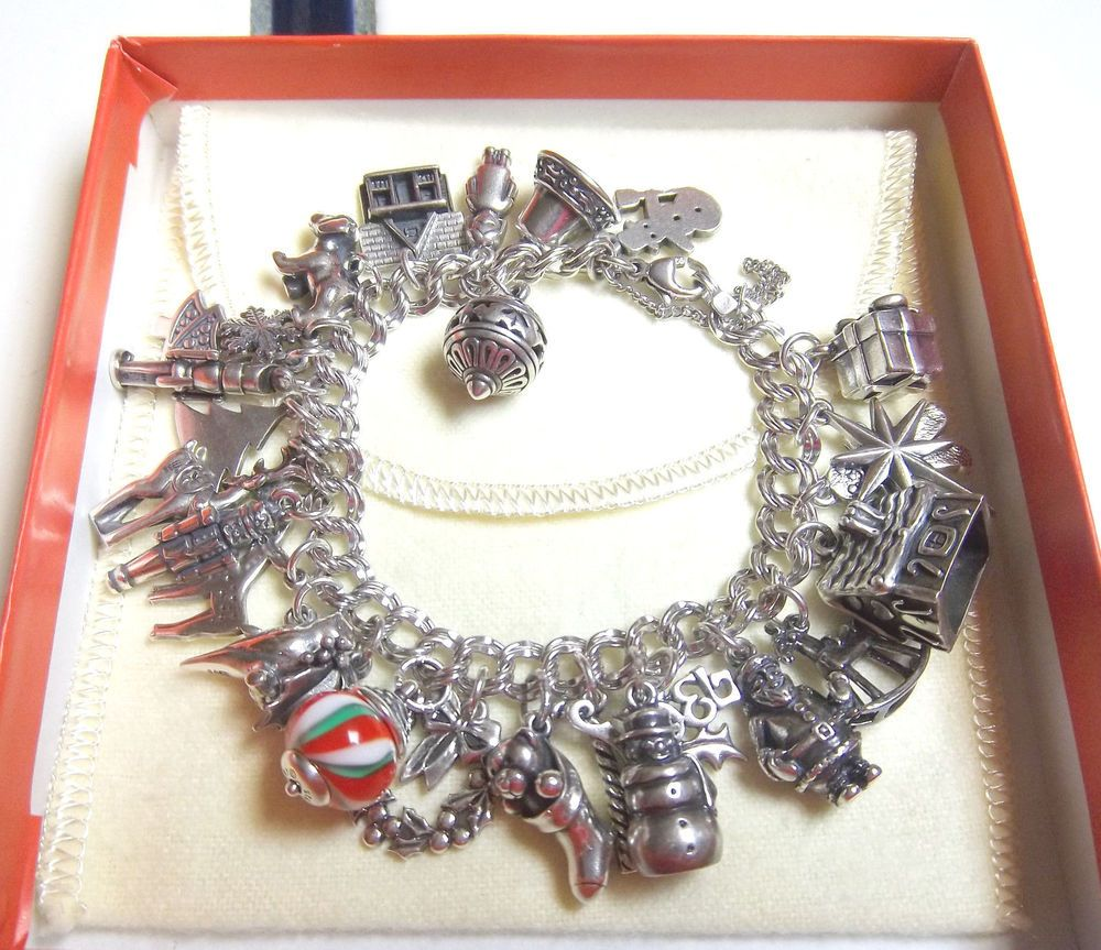 Fashion Jewelry Christmas Themed Charm Bracelets And Multiple Pins