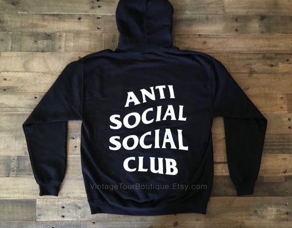 Anti Social Social Club Hoodie In Black Assc Kanye West Anti Social Gildan Swe Anti Social Social Club Hoodie Kanye West Sweatshirt Anti Social Social Club