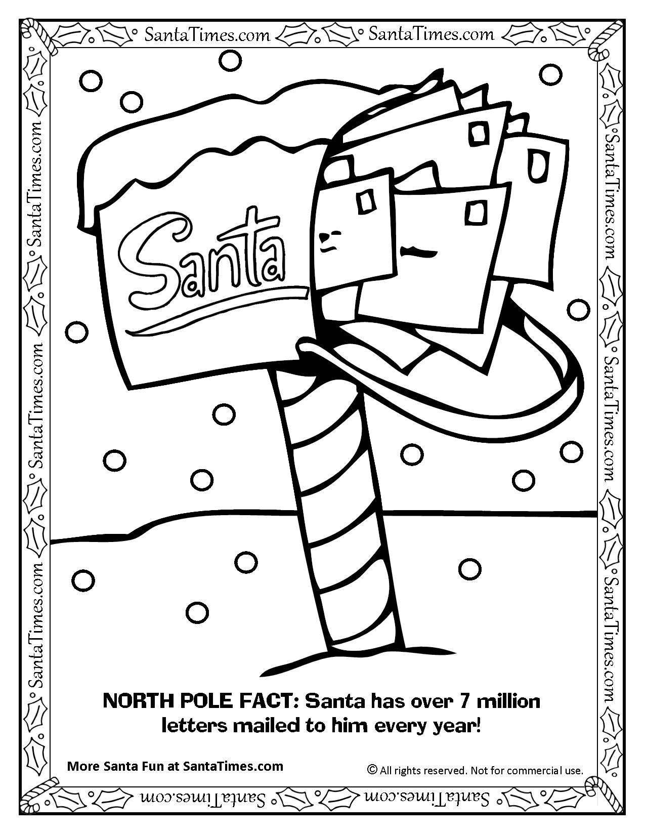 mailbox coloring pages for kids | Santa's North Pole Mailbox Coloring Page Printout. More ...