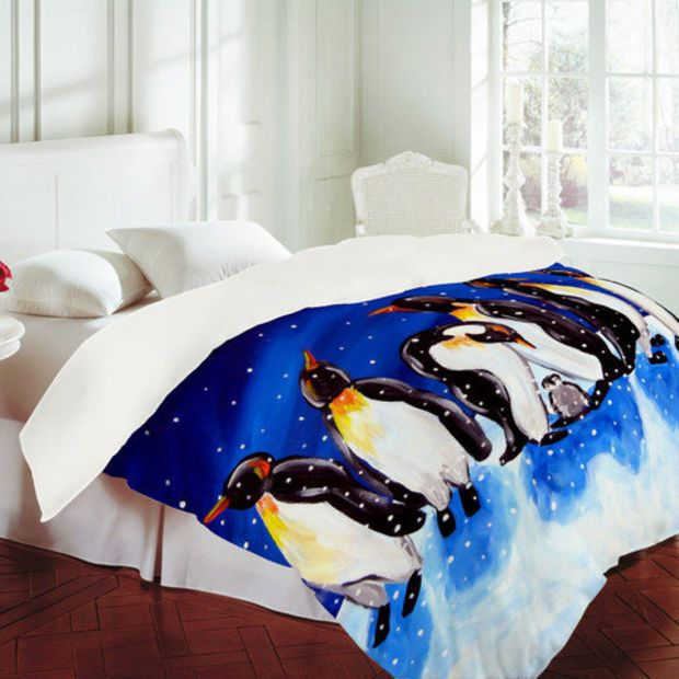 DENY Designs Home Accessories | Renie Britenbucher Penguin Party Duvet Cover