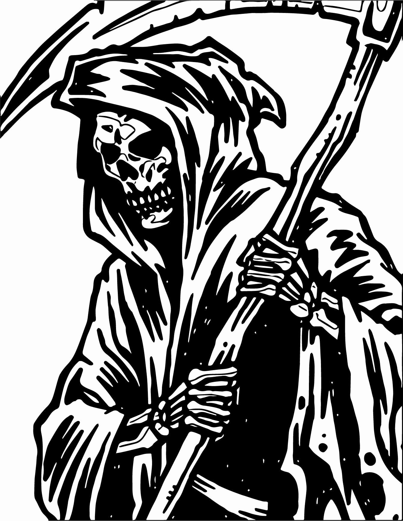 Grim Reaper Coloring Pictures Beautiful Is The Grim Reaper Evil Coloring Pictures Grim Reaper Owl Tattoo Sleeve