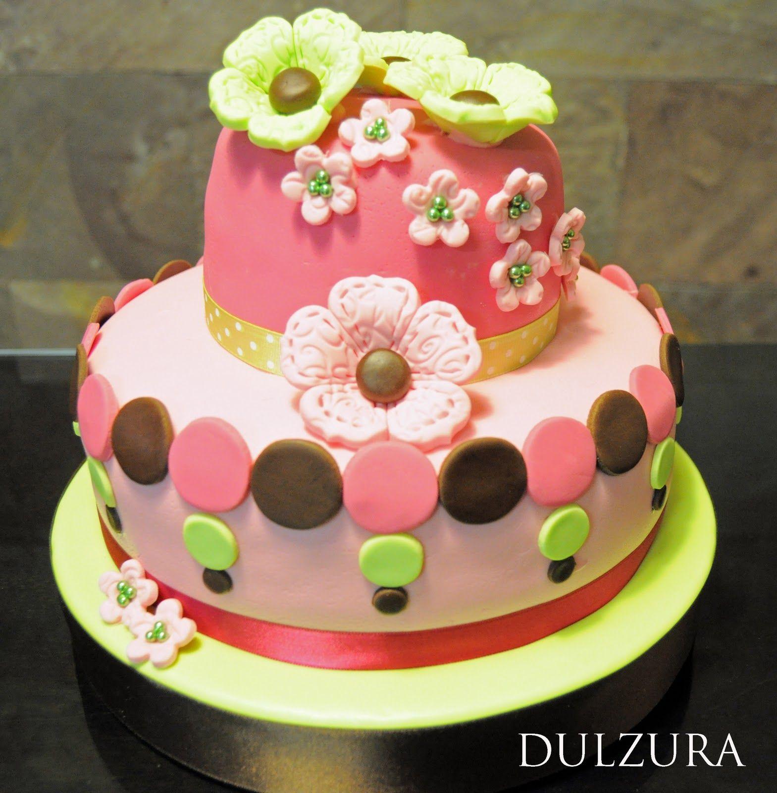 pastel decorado con flores quince aosde
