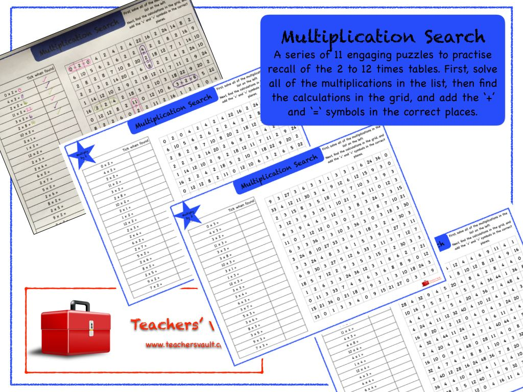 Multiplication Search With Images