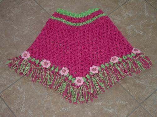 Delicate Flowers CROCHET PONCHO PATTERN | Crochet poncho, Flower ...
