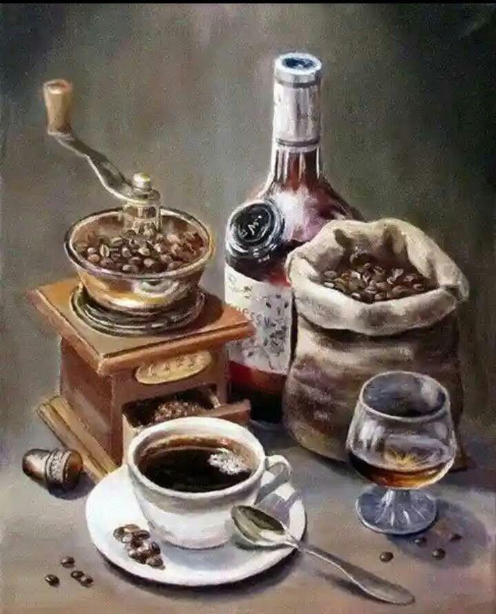 Ретро картинки чаепитие кофе