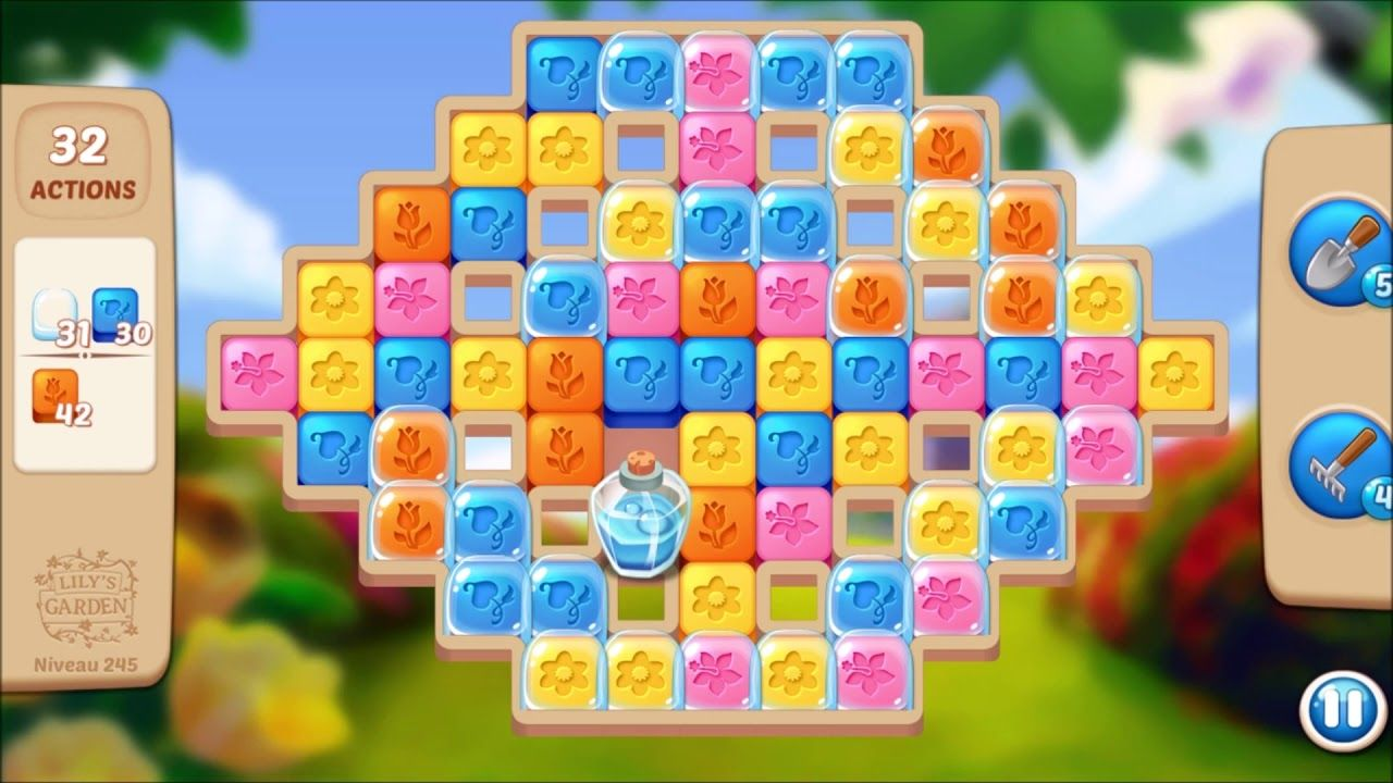 Lily S Garden Level 245 No Boosters Design Puzzle Garden Levels Lily