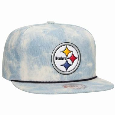 Pittsburgh Steelers Mitchell   Ness Lite Denim Adjustable Snap Back ... e29c41ce2