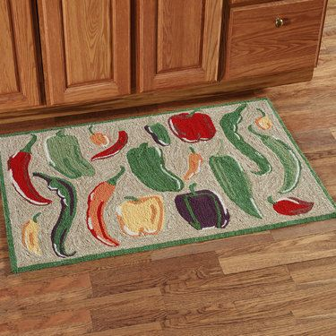 Bell Peppers Chili Kitchen Rugs