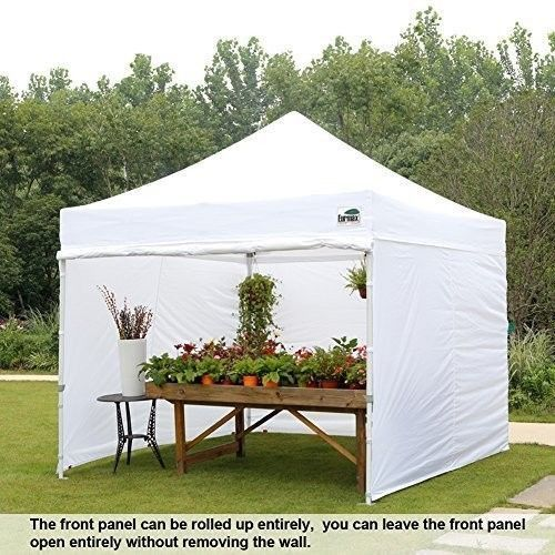 Pop Up Canopy Tent Commercial Instant Enclosure Side Walls Roller Bag