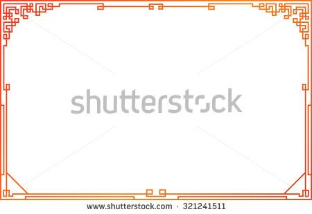 red frame style china and japan vector | vector sdart | Pinterest ...