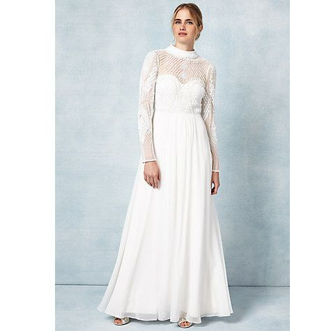 Buy Phase Eight Bridal Cadie Wedding Dress, Ivory Online at ...