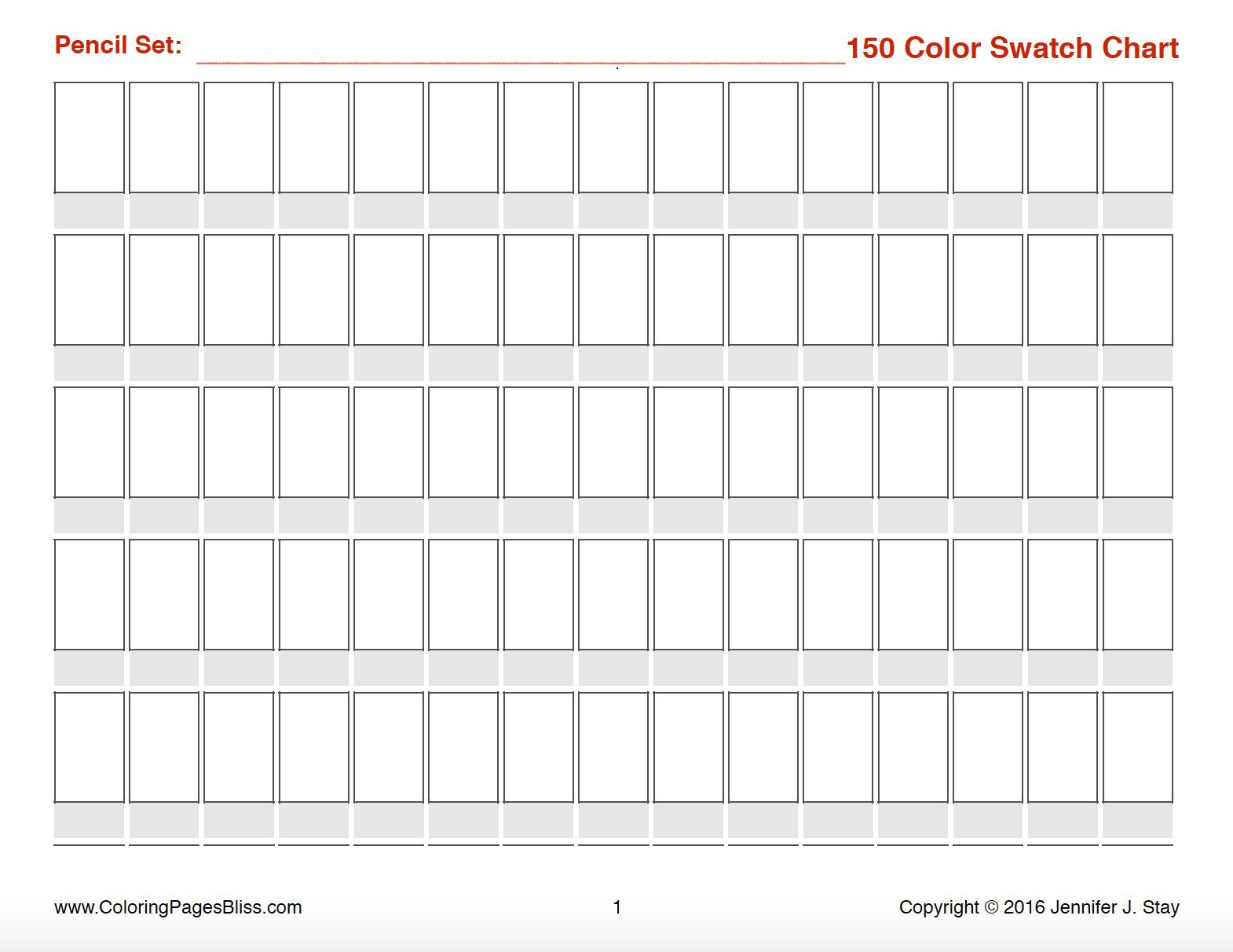 photo regarding Blank Color Chart Printable titled Grownup Coloring Web pages Shade Pencil Recommendations within 2019 Coloured