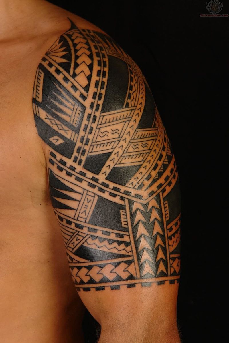 Tatouage Polynesien Traditionnel Signification Detailed Sleeve