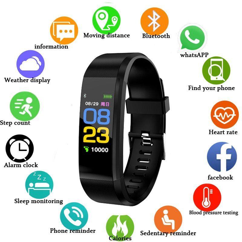 New Smart Watch Men Women Heart Rate Monitor Blood