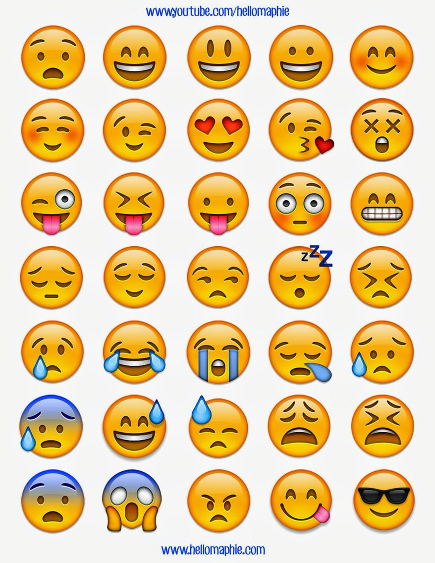 picture about Printable Emoji Stickers titled Emoji templates My templates Do it yourself college products, Tumblr