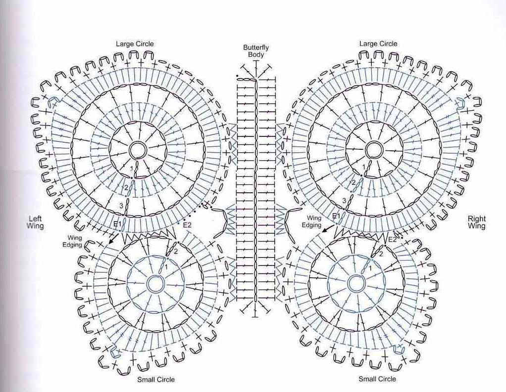 Mariposas de crochet patrones - Imagui | patrones crochet ...