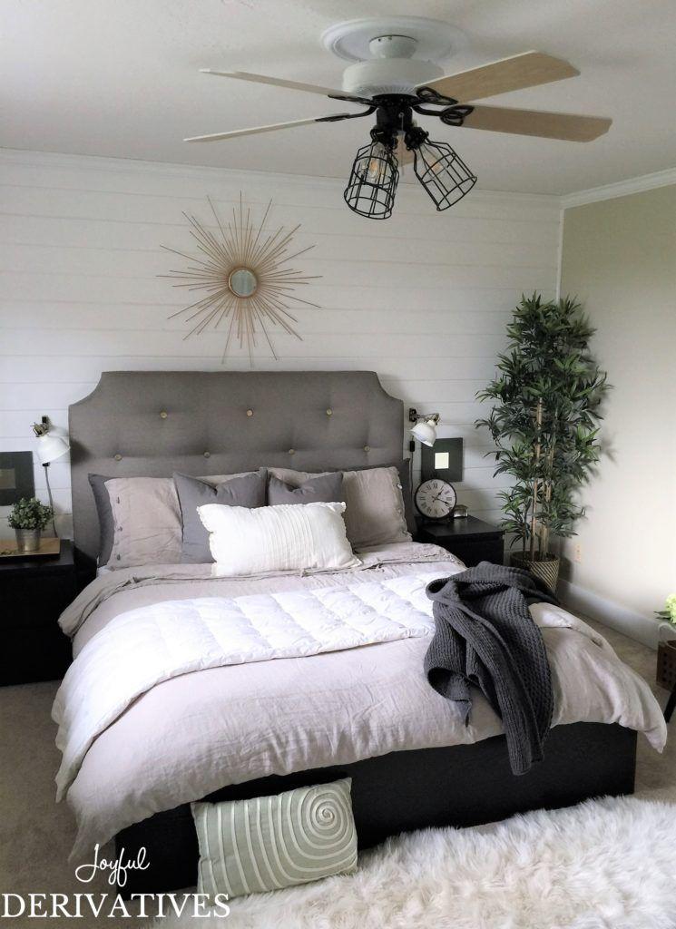 Modern Farmhouse Bedroom Makeover For Under 300 Master Bedroom