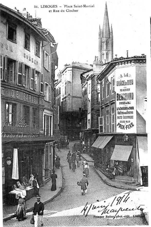 Rue Du Clocher Limoges Autrefois Limousin Ville De Limoges Photos Anciennes
