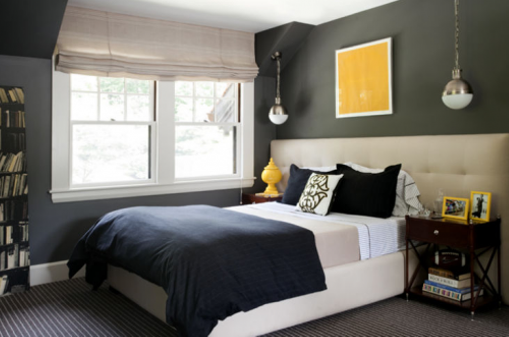 Great Wall Color With Yellow Accent Remember That Painting You Saw All The Birds Gray Blue Bedroomsgray