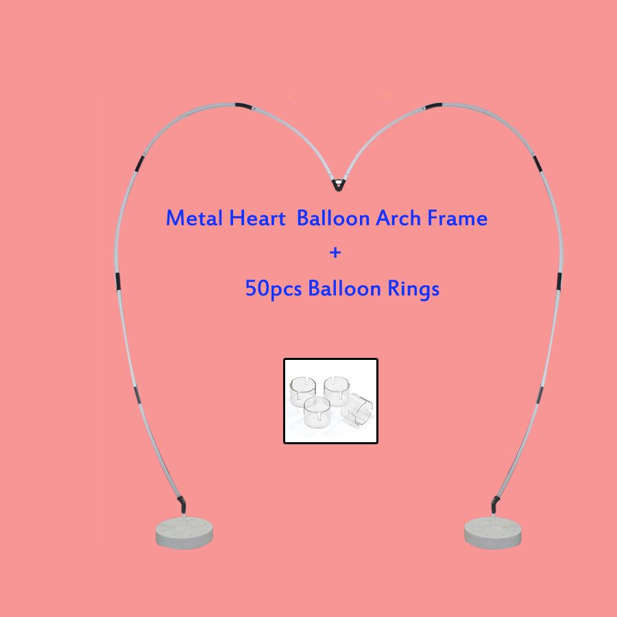 Metallic Heart Shape Balloon Arch Frame Kit
