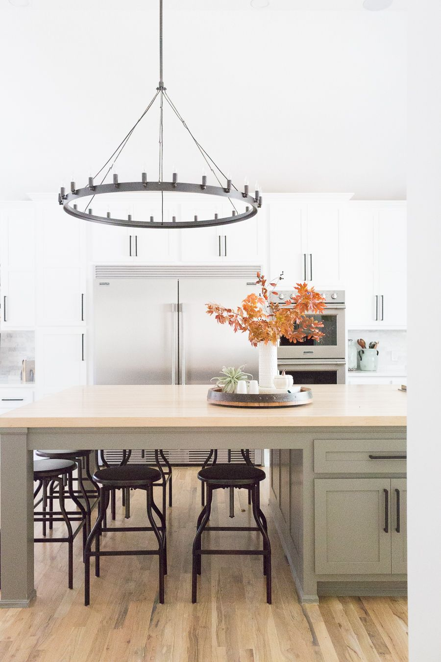 CC and Mike Tulsa Remodel Reveal | Grey kitchen island, Large ...