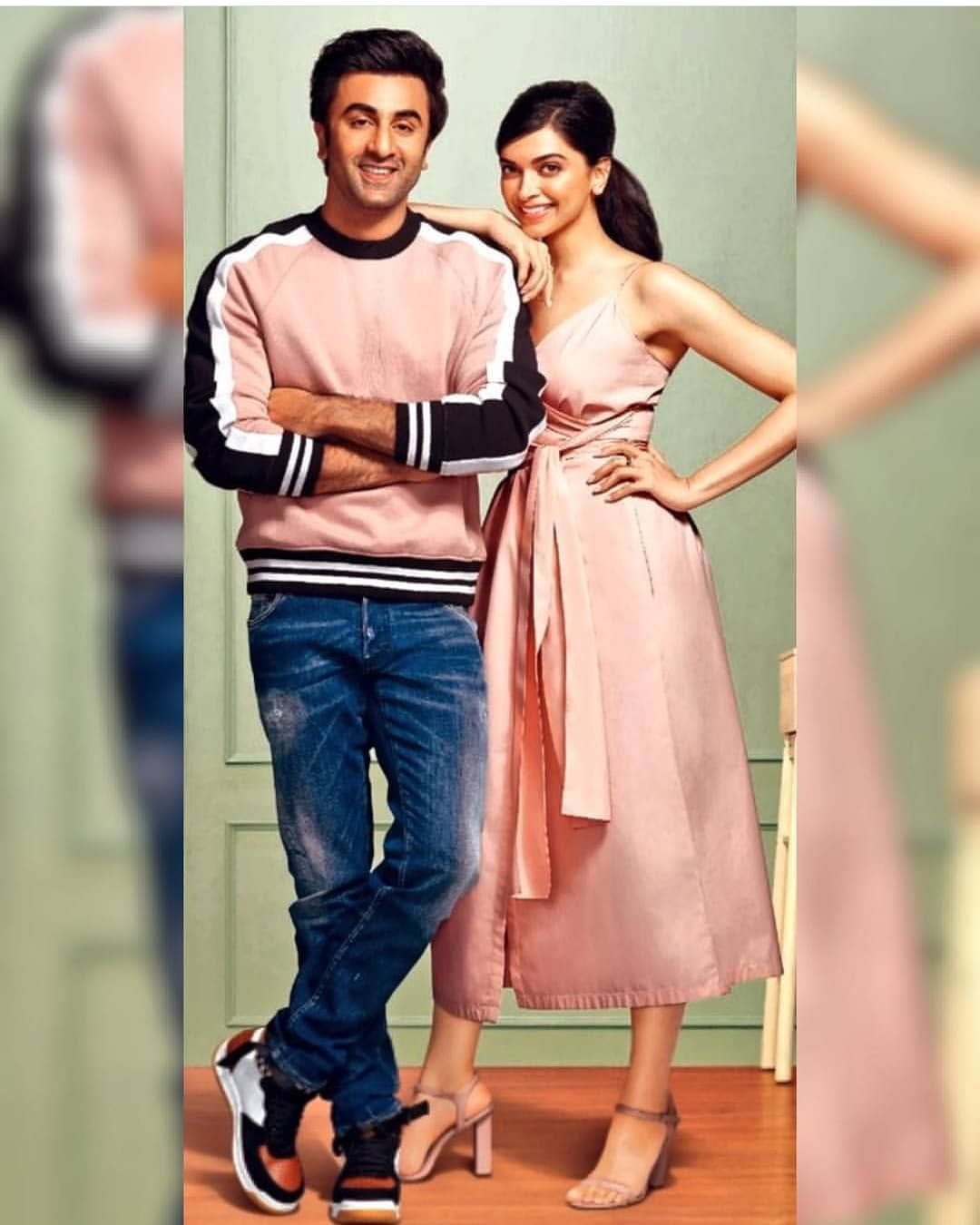 Ranbirkapoor And Deepikapadukone From Ad Bollywood Celebrities Beautiful Bollywood Actress Western Outfits
