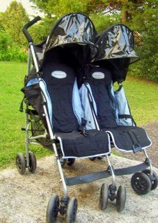 So this is the double stroller we bought from McClaren. I remember ...