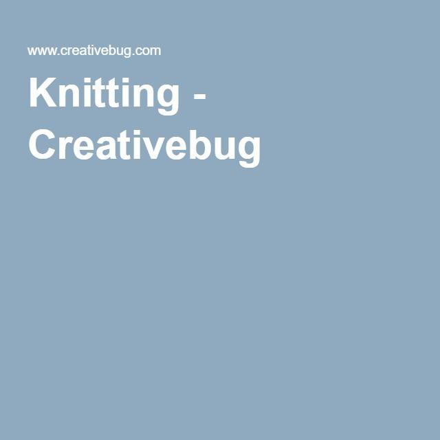 Knitting - Creativebug