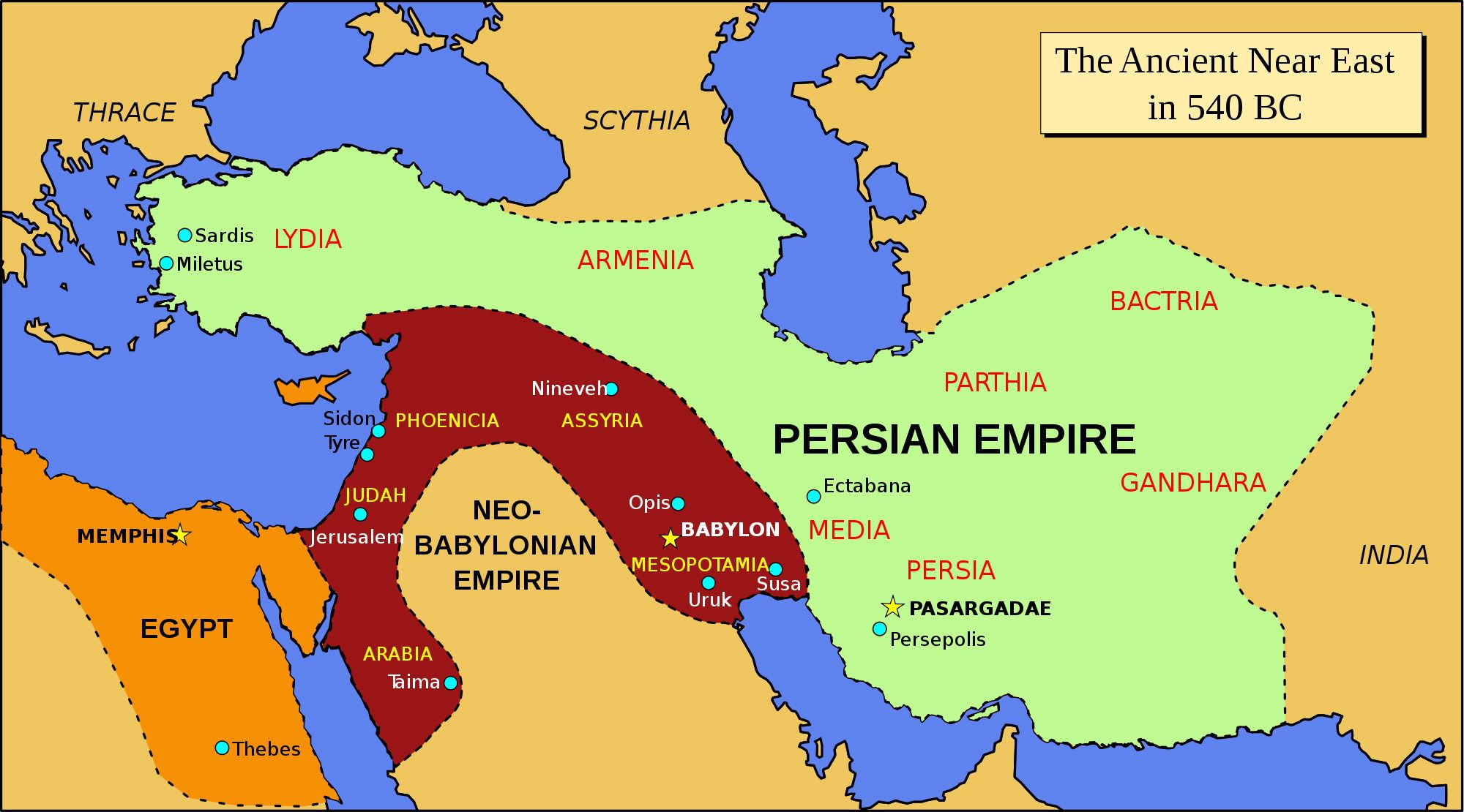 Where is the persian empire located