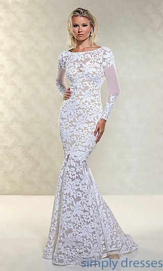 Floor Length Open Back Lace Gown by Xtreme at SimplyDresses.com