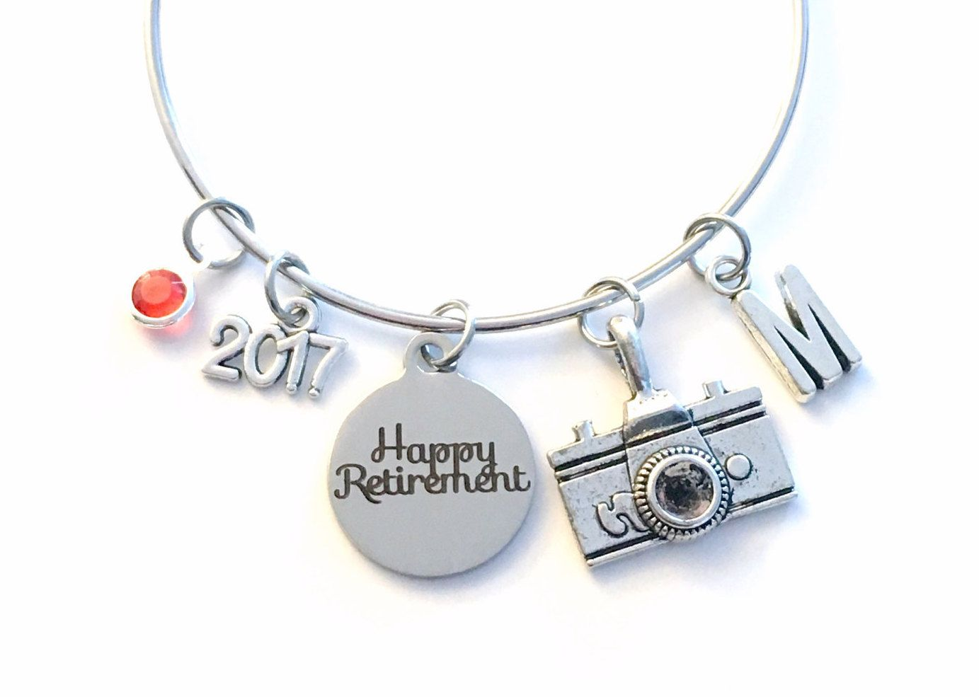 Retirement Gift For Photographer Photography Camera Charm Bracelet