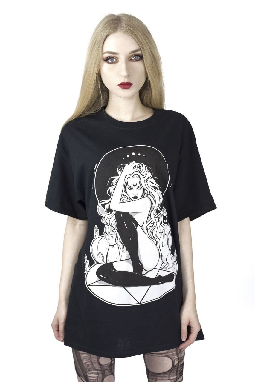 Gothic Occult Pocket T Shirts Black Alternative Clothing