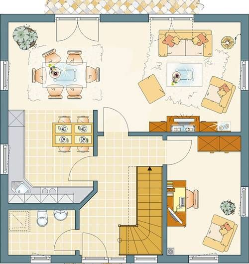 hier finden sie einfamilienhaus grundrisse von 120 150 m wohnfl che haus pinterest. Black Bedroom Furniture Sets. Home Design Ideas