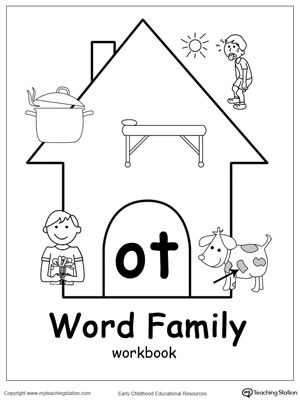 OT Word Family Workbook for Kindergarten | Coloring, Kindergarten ...