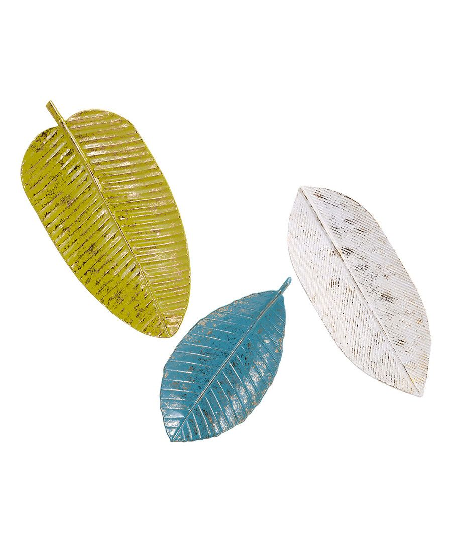 Look at this palm beach leaf tray wall art set on zulily today
