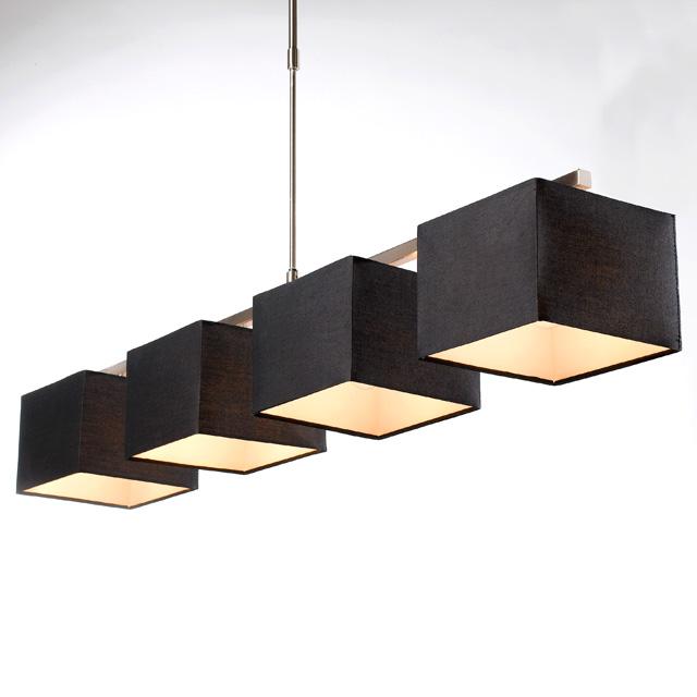 Lustre 4 lumières strada h 28 60 w noir castorama