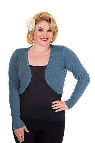 Banned Plus Womens Long Sleeve Light Knit Bolero Shrug Sweater ...