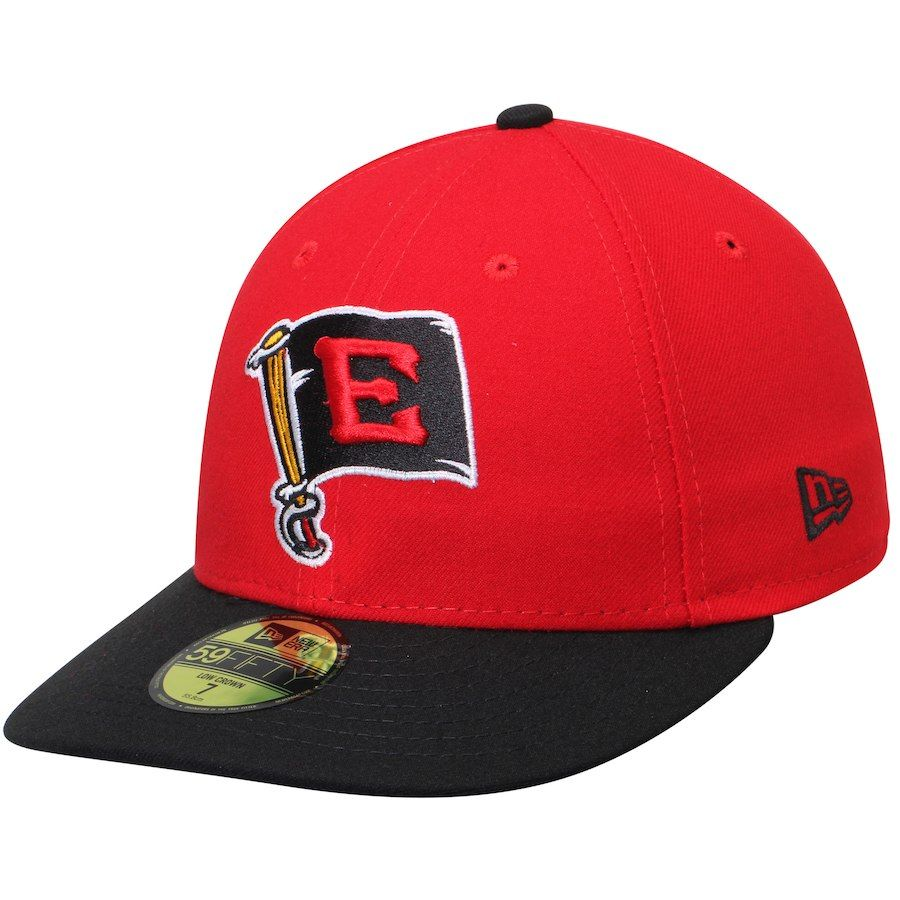 a952939c4e0d2 Men s Erie SeaWolves New Era Scarlet Black Alternate 1 Authentic Collection  On-Field Low Profile 59FIFTY Fitted Hat