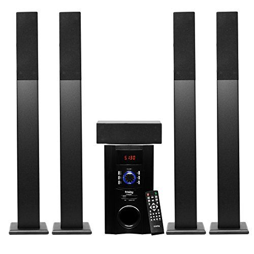 Special offers frisby fs bt tower surround sound home theater speakers system with also rh pinterest