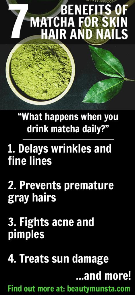 7 Magical Beauty Benefits Of Matcha Green Tea Beautymunsta Free Natural Beauty Hacks And More Matcha Benefits Anti Cancer Matcha