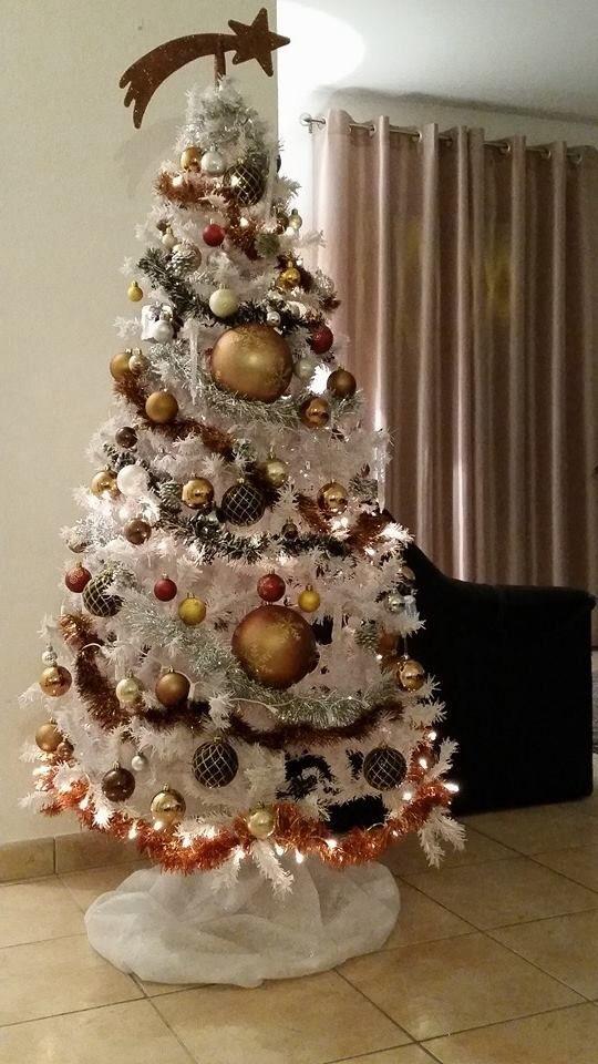 Autumn themed Christmas tree.