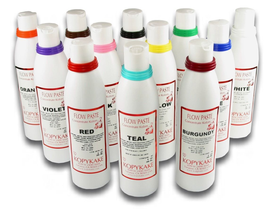 Kroma Flow Paste (12 colors - 4oz). Ice any color with Kroma Flow ...