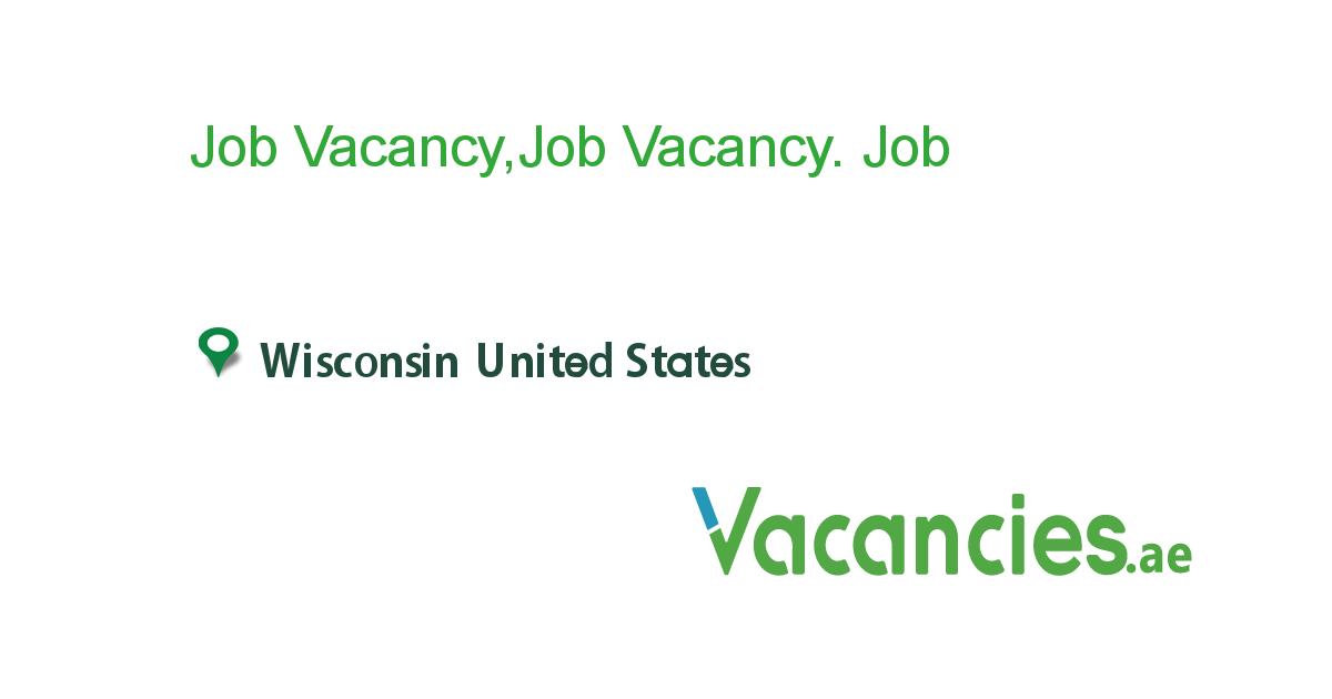 Job Vacancyjob Vacancy Job Local Jobs Entry Level