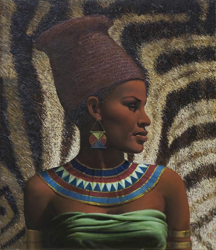 Vladimir Tretchikoff: Portrait of a Zulu Maiden