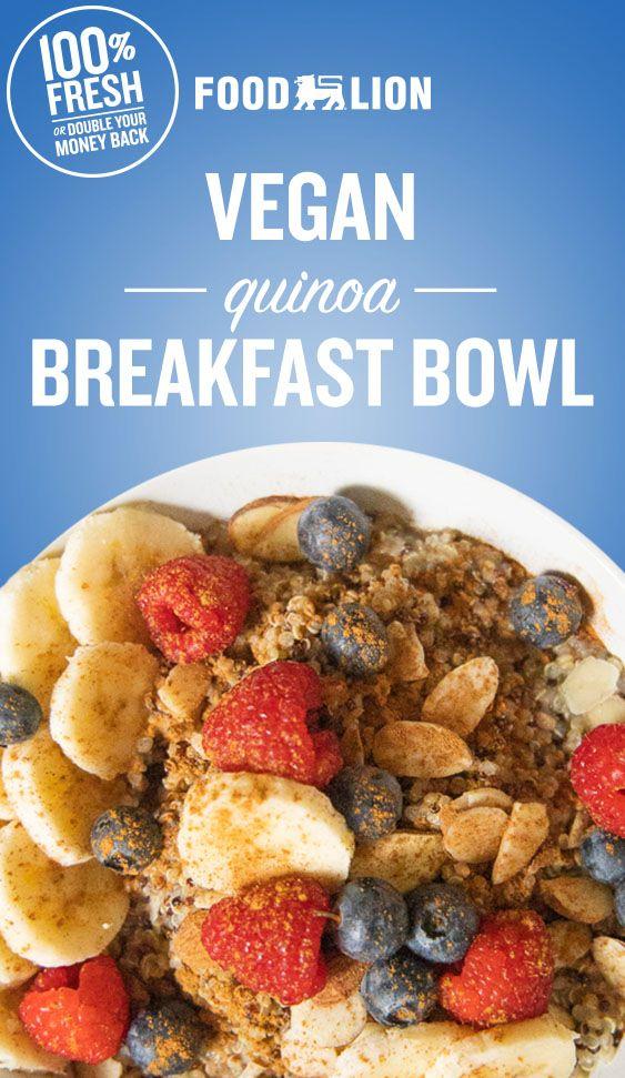 Vegan Quinoa Breakfast Bowl In 2020 Breakfast Bowls Quinoa Breakfast Bowl Vegan Quinoa