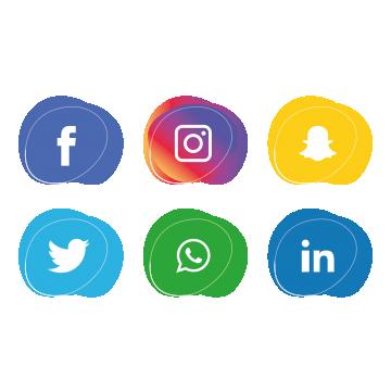 Social Media Icons Set Instagram Whatsapp, Icon, Media